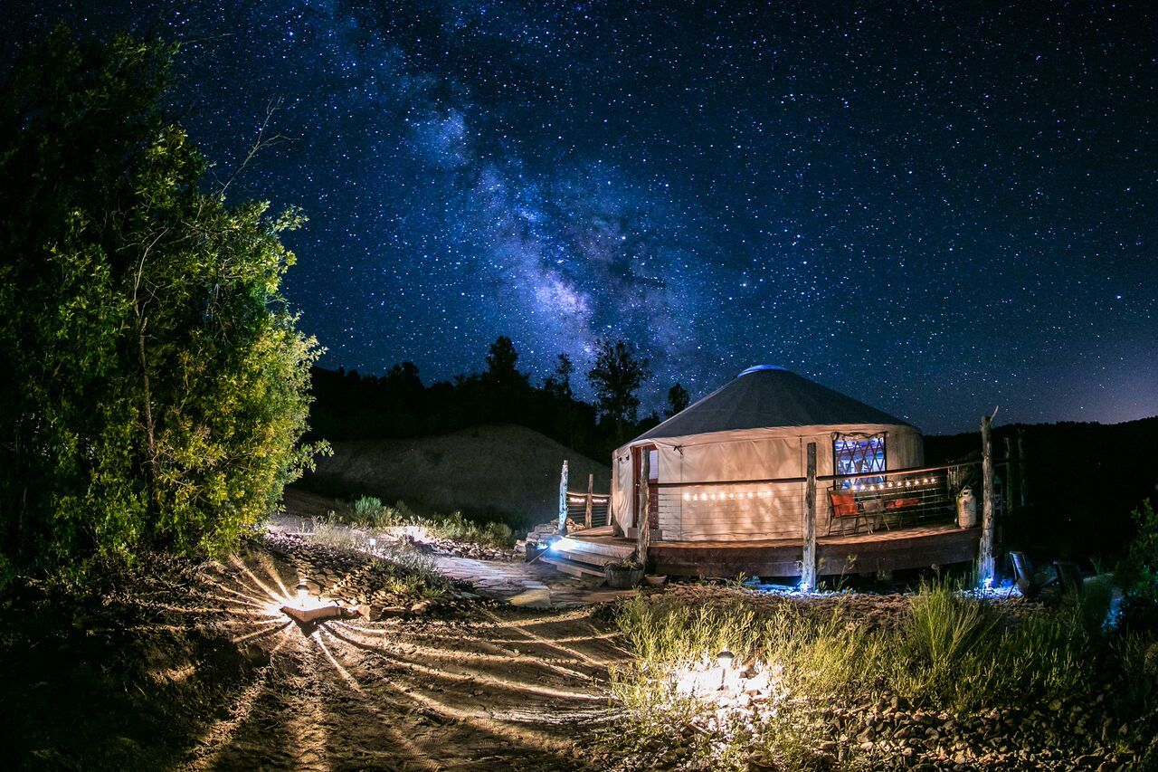 The yurt & the Milky Way!