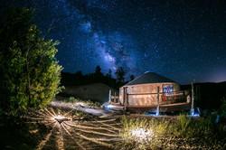 The yurt & the Milky Way!