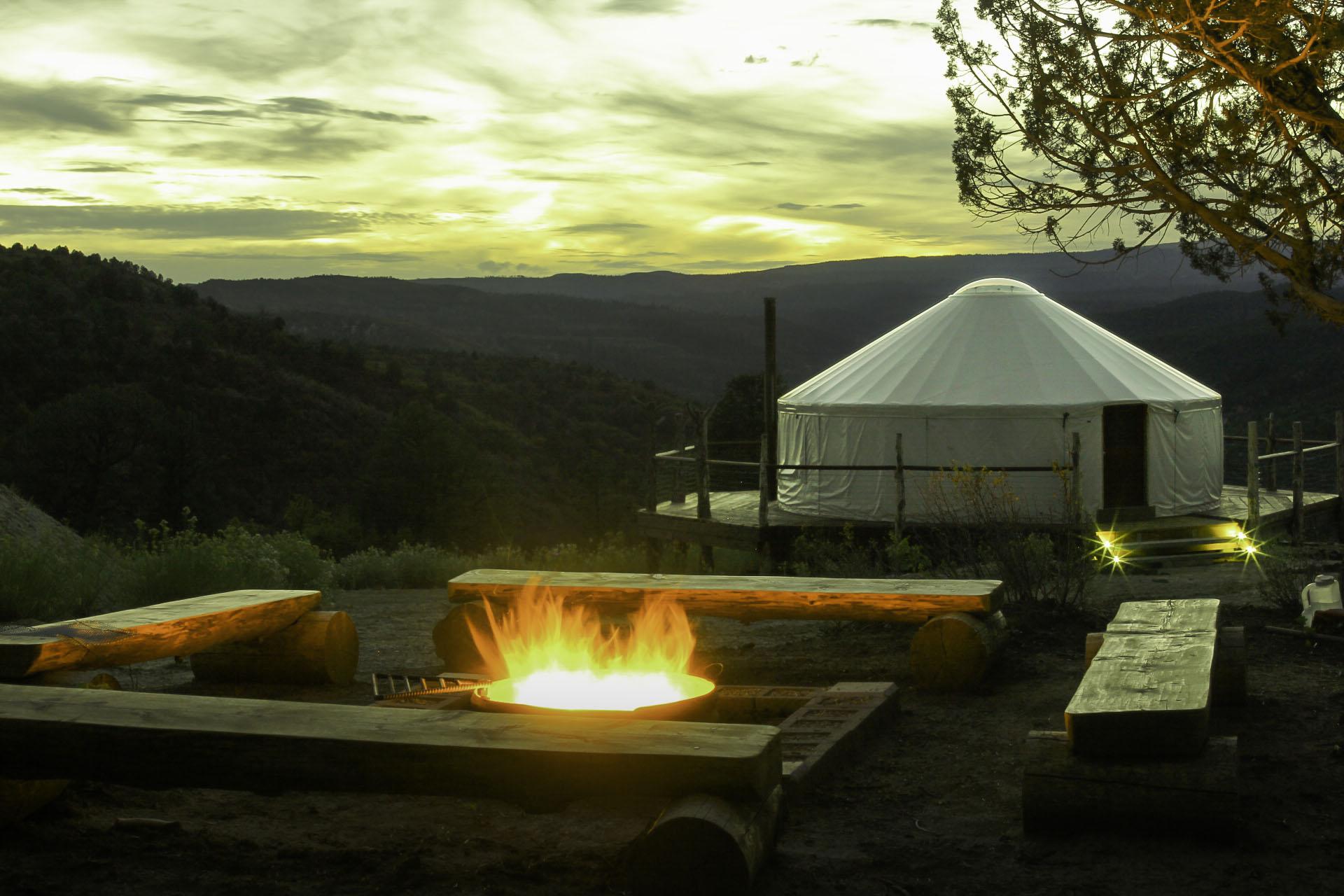 Fire Pit & Yurt