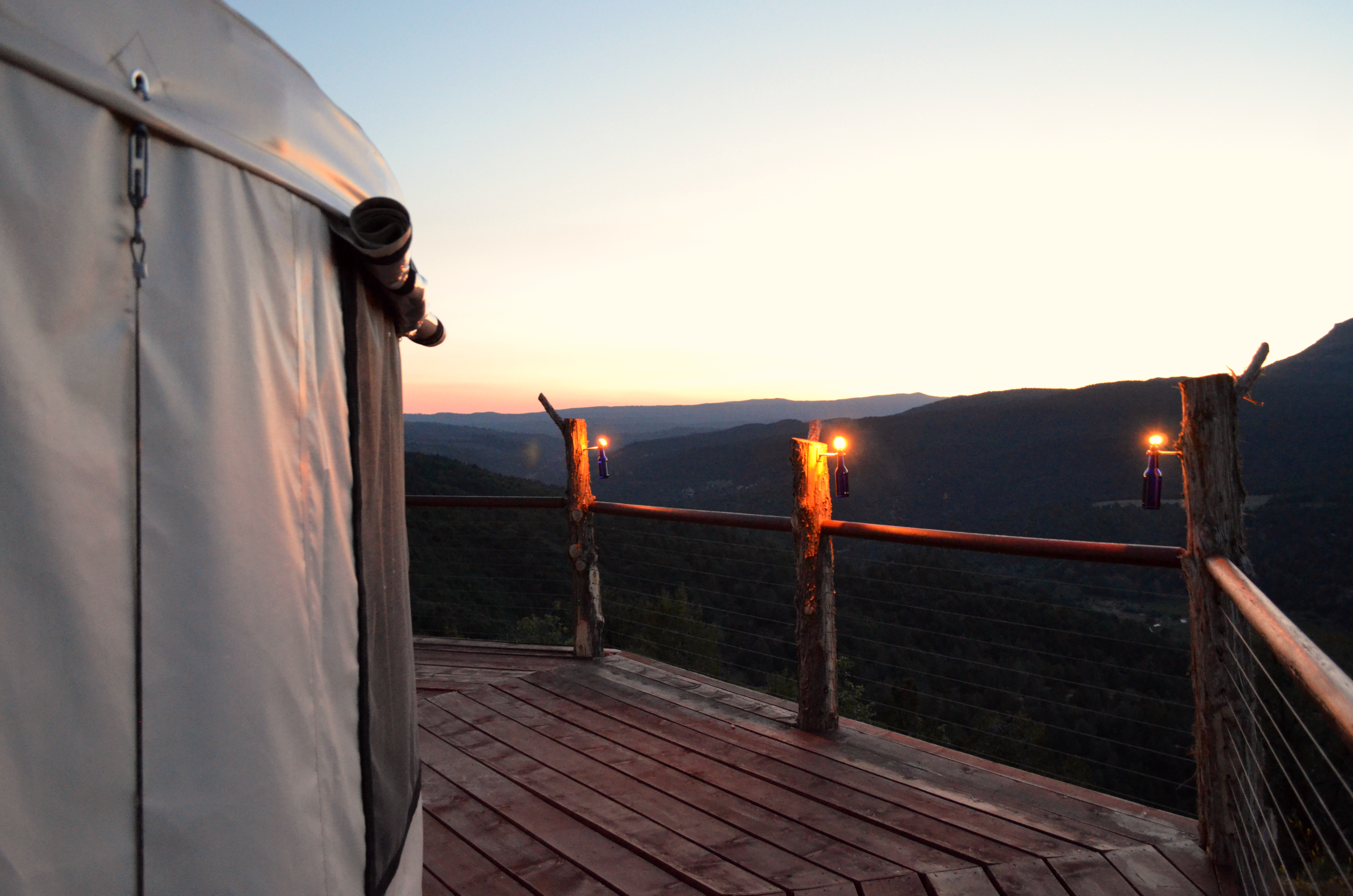 Dusk at the Yurt