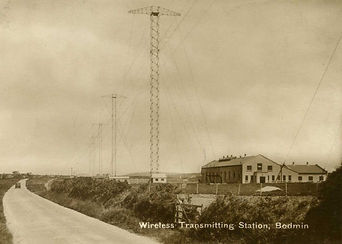 NSS 09 Bodmin Wireless Station Old Postc