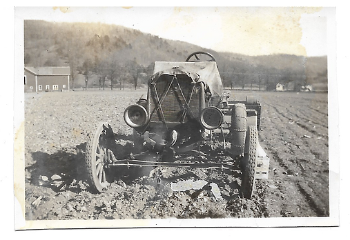 Tractor Clarks dairy farm