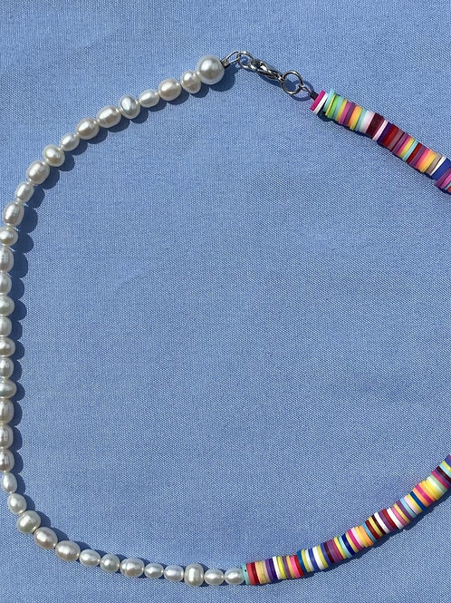 Pearl & Flatbead Necklace