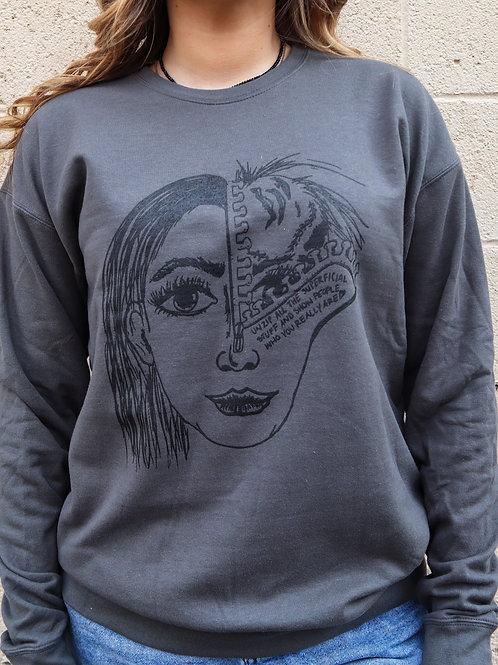 Superficial Fleece crewneck Sweatshirt