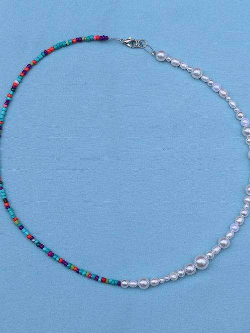 Trendy Half & Half Necklace