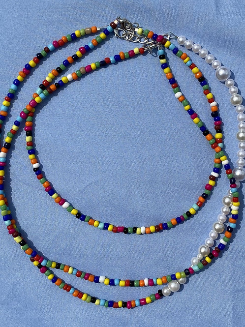 Multi Color Necklace Trio