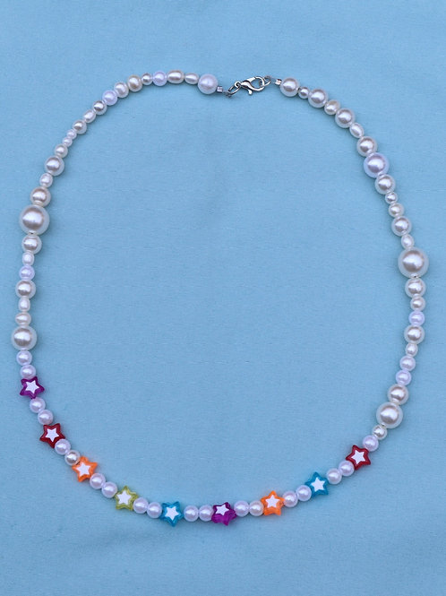 Stars and Pearls Necklace