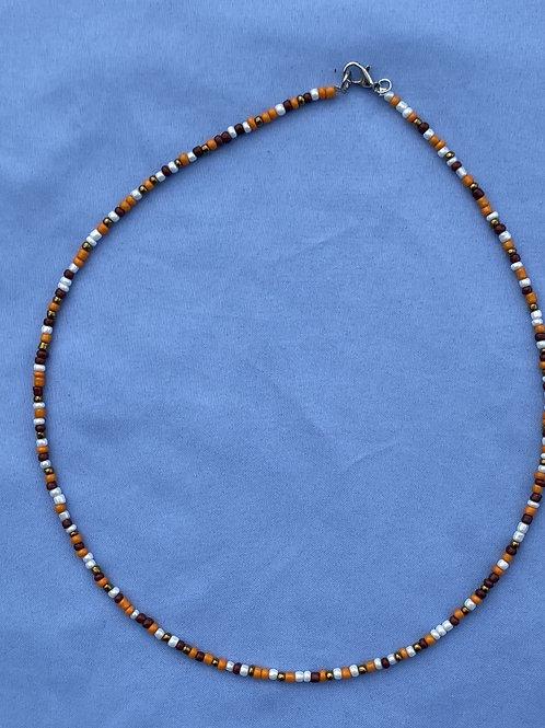 Micro Multi Color Beaded Necklace