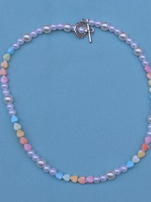 Multi Color Heart Necklace