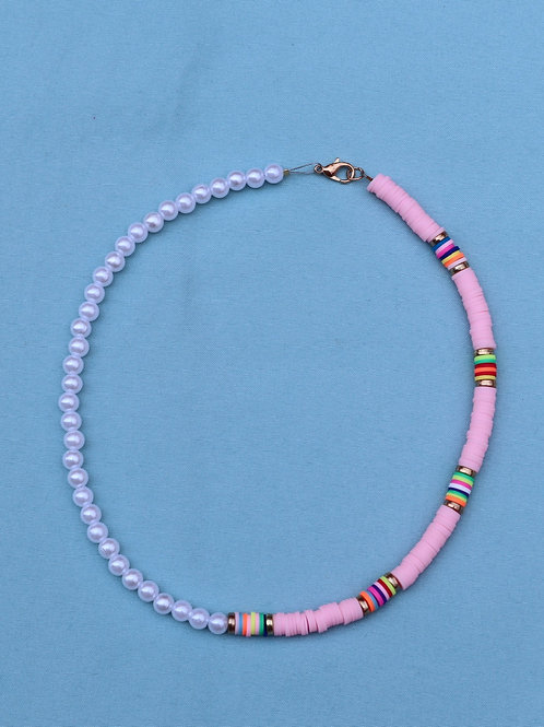 Pink Island Inspired Necklace