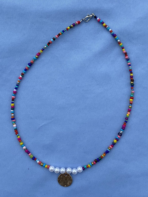 Multi Color with Pearl Necklace
