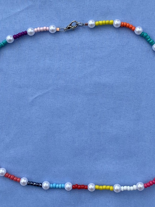 Multi Block Bead Necklace