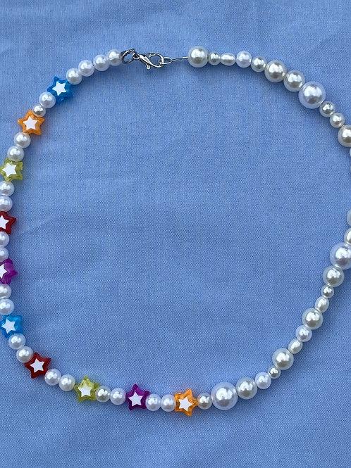 Multi Color Star Necklace