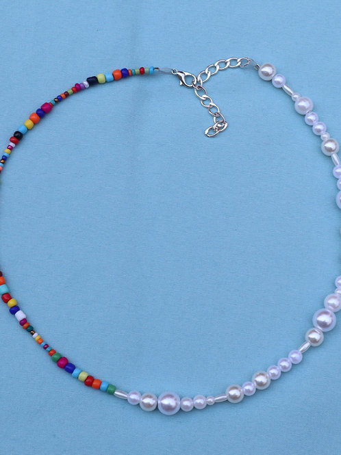 Multi Pearl and Bead Necklace