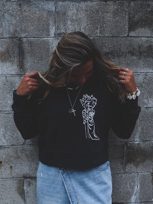 Fire's of Love Cropped Sweatshirt