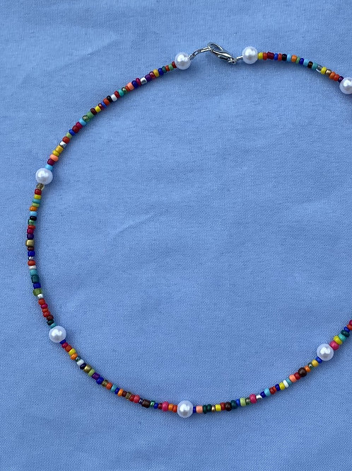 MicroBead and Pearl Necklace