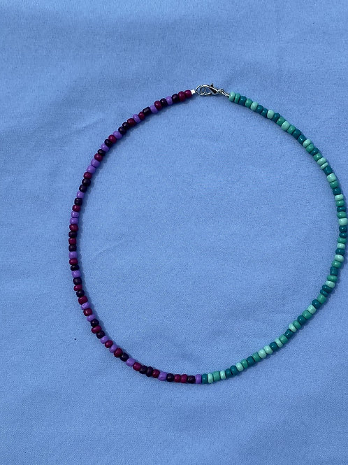Plum & Teal Necklace