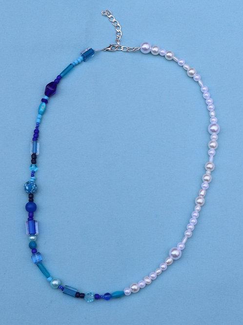 Blue Half & Half Necklace