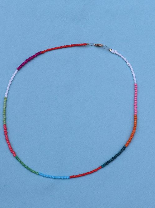 Multi Block Color Necklace
