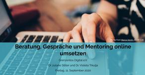 """Präsentation zum Workshop """"Beratung, Gespräche und Mentoring online umsetzen"""""""