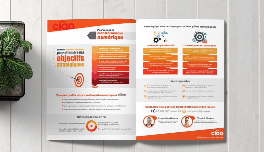 Promotional design: Stécie April Client: Ciao - Conseil en interopérabilité et en accessibilité aux organisations