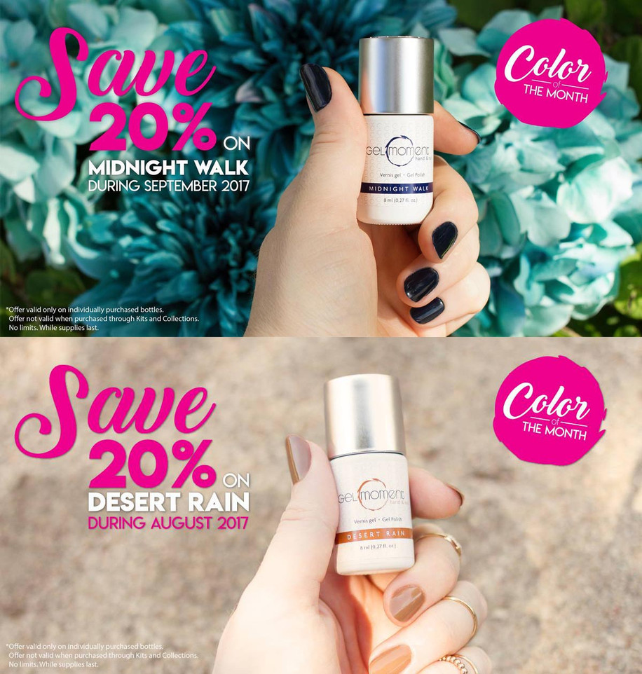 Color of the month promo (photo and design): Stécie April Client : Gelmoment - Multi-level marketing company selling gel polish & accessories