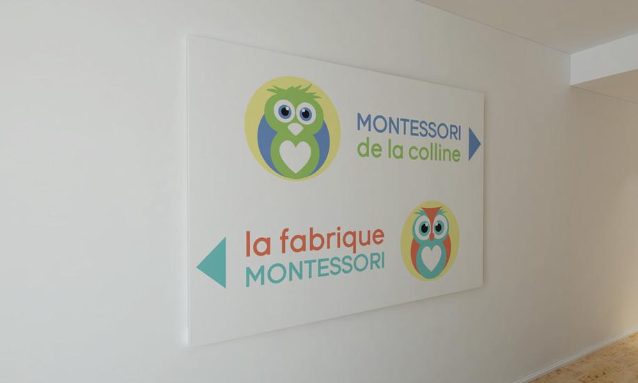 Logo Design: Stécie April  Direction Artistique: Anaelle T. Brouard Client: Montessori de la colline - Garderie 9 mois à 5 ans & La fabrique Montessori - Formation et vente de matériel pédagogique Montessori