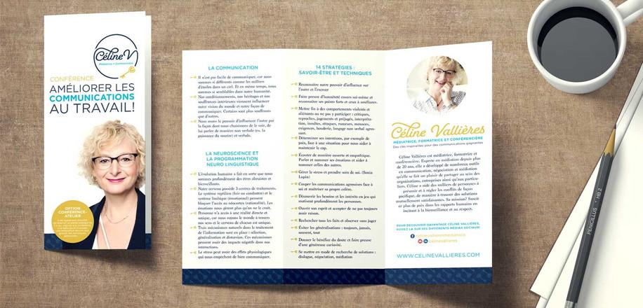 Brochure design: Stécie April Direction Artistique: Anaelle T. Brouard Client: Céline vallière - Médiatrice, formatrice et conférencière