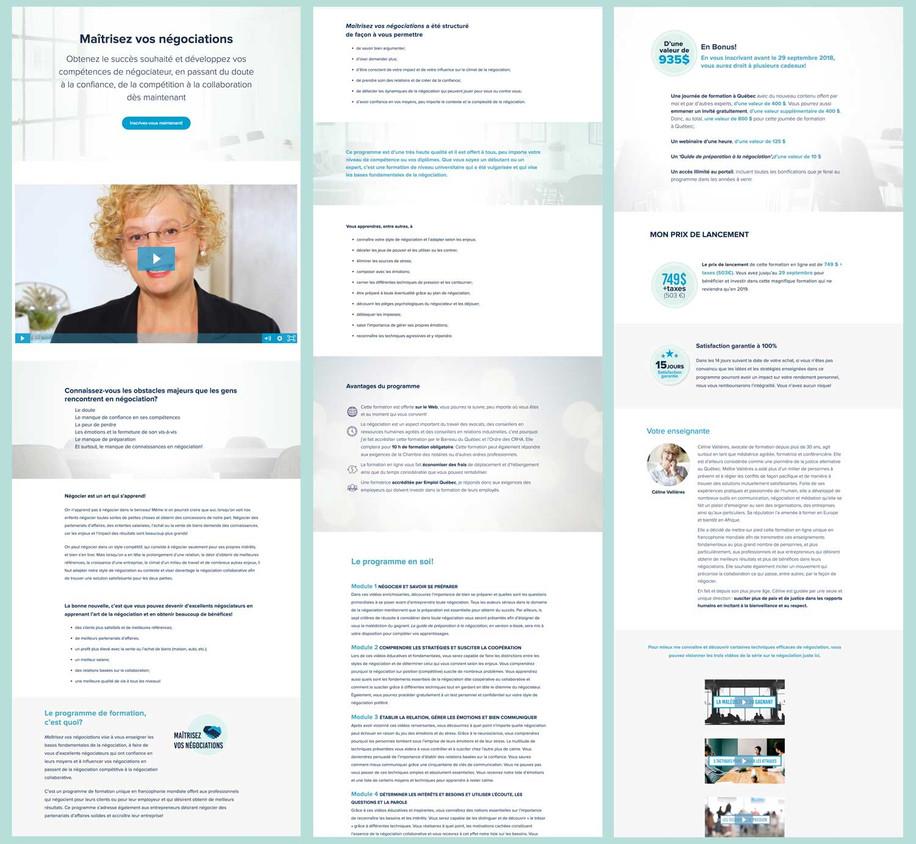 Online formation sales page design (teachable): Stécie April Direction Artistique: Anaelle T. Brouard Client: Céline vallière - Médiatrice, formatrice et conférencière