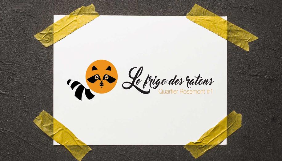 Logo design: Stécie April Client : Frigo des raton - Frigo communautaire