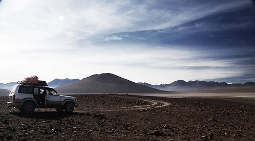 Deserto de Siloli, na Bolívia. Suas formações únicas e seu infinito inquietante.