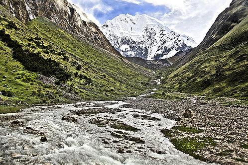 Nevado Salkantay, na Cordilheira peruana,avistado durante a caminhada pra Macchu Picchu numa das trilhas clássicas do nosso