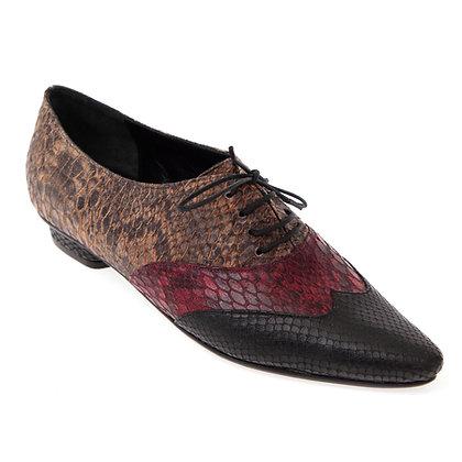 Sapato Oxford Bico Fino 3 Cobras