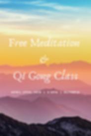 Free Meditation & Qi Gong Class register