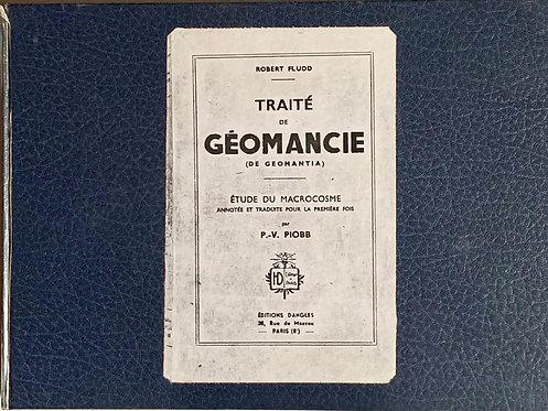 Traité de géomancie. Robert  Fludd