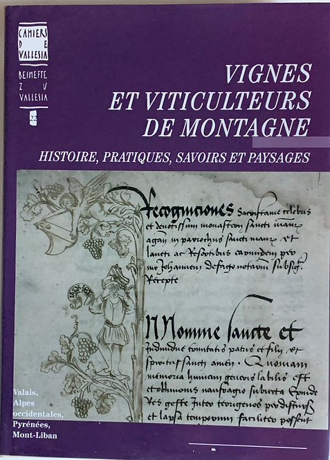 Vignes et viticulteurs de montagne