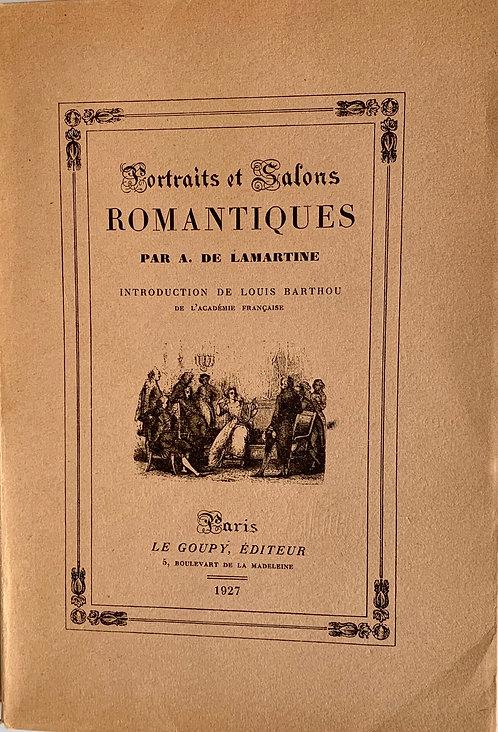 Portraits et Salons romantiques.A.de Lamartine