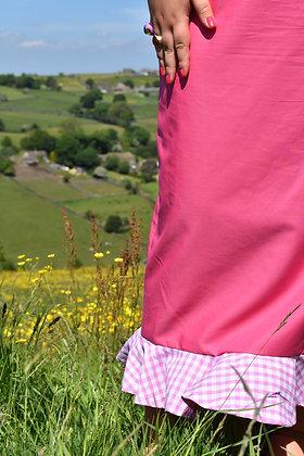 Flounce Midi Skirt