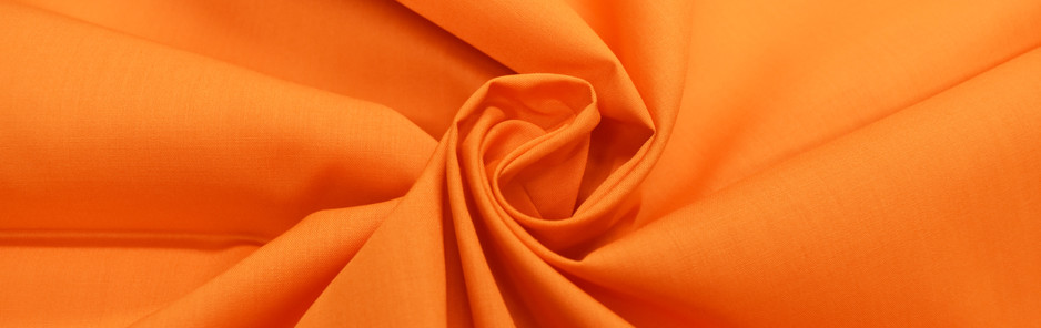 Orange Polycotton Poplin