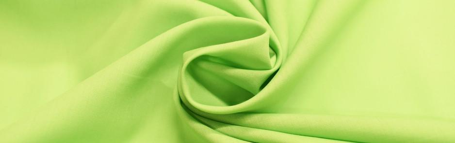 Lime Polycotton Poplin
