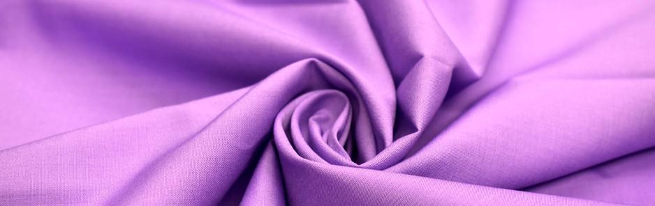 Violet Polycotton Poplin