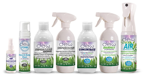 Hand Sanitiser, Hand & Body Wash, Superclean Concentrate, Superclean Cleaner & Degreaser, Disinfect Concentrate, Disinfect &