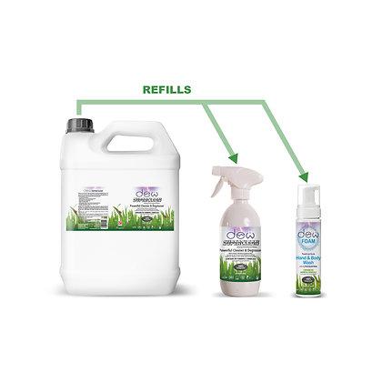 Superclean Pack 2 - 1 x 5L Refill Ready Mix, Superclean & Foam