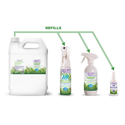 Disinfect Pack 2 - 1 x 5L Refill Ready Mix, Air, Disinfect, & Hand Sanitiser