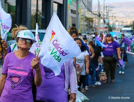 Marcha mujeres asociacion calidad de vida honduras