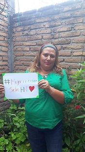 Sandra Lorena Ruiz, punto focal en Hondu