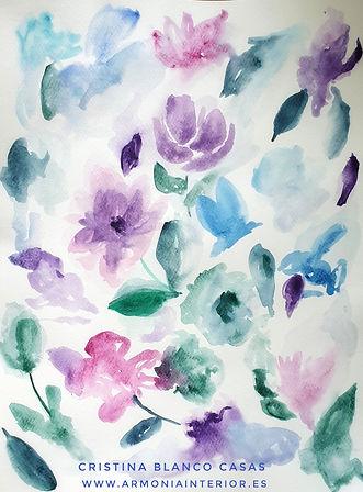 Conjunto floral. Acuarela by Cristina Blanco Casas