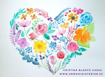 Primavera en el corazón. Acuarela by Cristina Blanco Casas