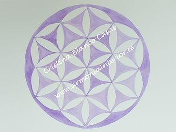 Flor de la vida violeta, geometria sagrada, arte sanador, arte espiritual, arte que sana