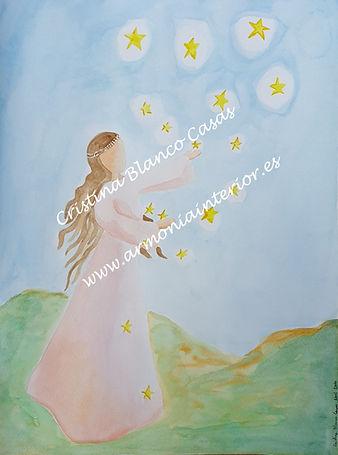 Dones del cielo, acuarela sanadora